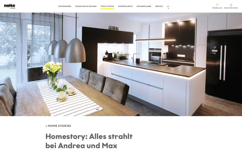 Nolte Küchen Interview Website Screenshot